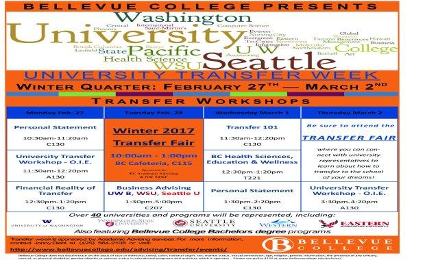 Winter 2017 Transfer Week Poster