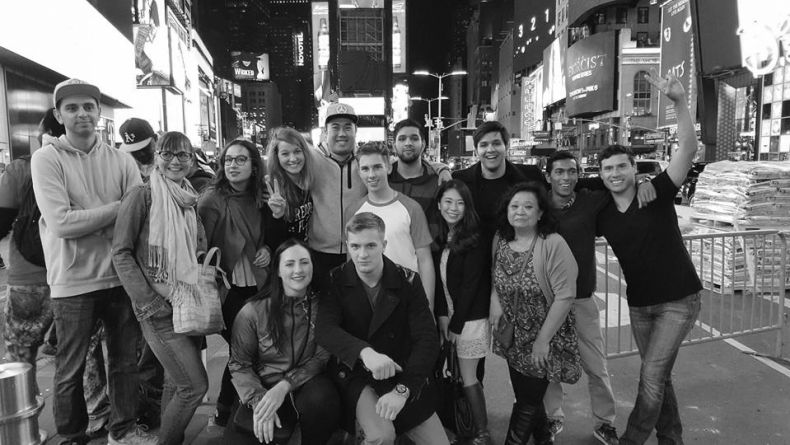 BC DECA members in New York.