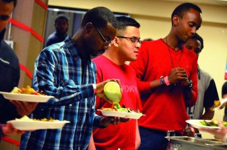 Food at Latino Night.