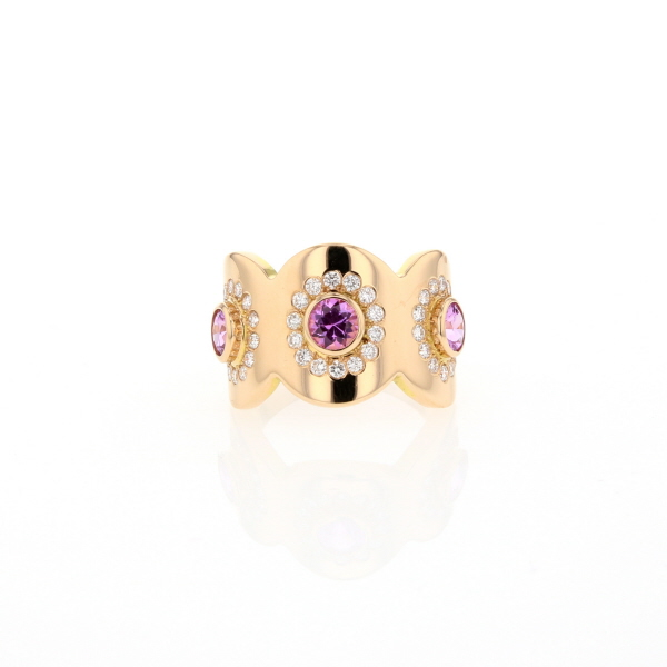 BAGUE OR RO 3 SAPHIR ROSEweb01
