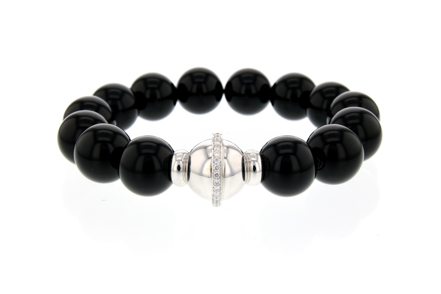 BRACELET DEGREEF ONYX OB BL DIAMSWEB01