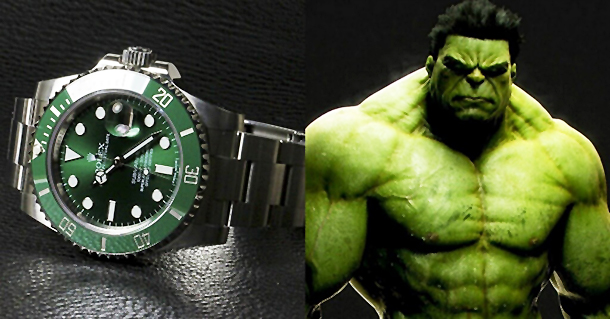 Rolex Green Submariner, Rolex 116610lv