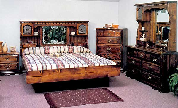 countryside floral pine waterbed furniture