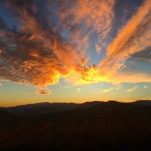 Brilliant Sunset over Lake Burton