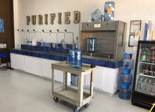 Water Vending Center inside Bedford store