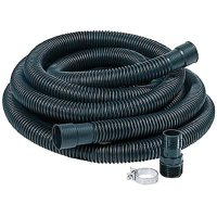 """Sump Pump Flexible 24ft by 1 1/4"""" Black Hose Kit with Male ..."""