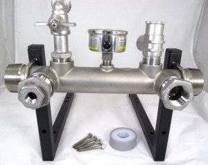 Manifold Kit Stainless Steel with Wall Bracket and