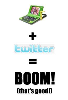 100$ Laptop + Twitter = BOOM!