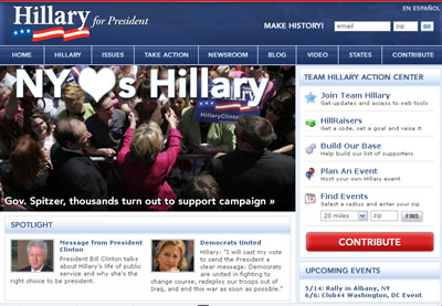us elections-hillaryclinton screen