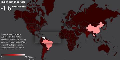 Akamai real time internet monitor