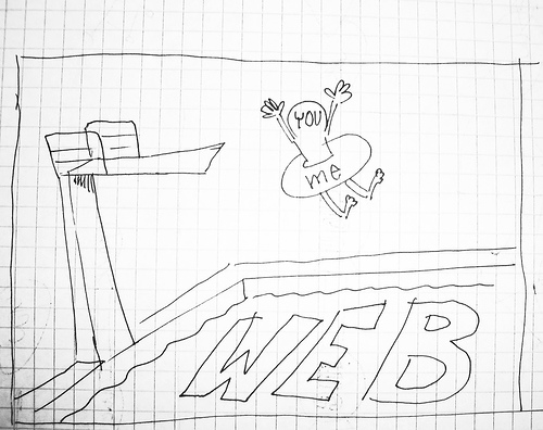 Jump right in: You, me and the web pool. Image by Matthias Pflügner