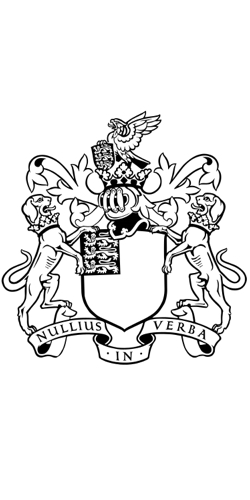 Royal Society coat of arms. Source: Wikipedia
