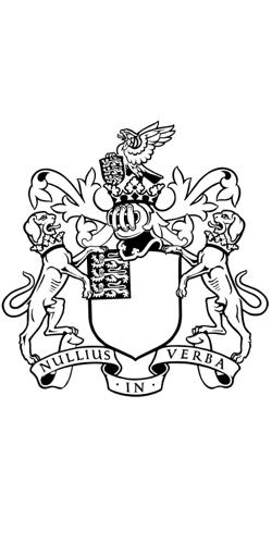Royal Society coat of arms. Source: Wikipedia