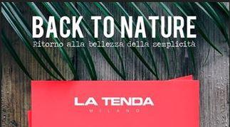 Back To Nature è il format ideato da La Tenda per unire arte in vetrina con la moda nel negozio.