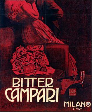 Galleria Campari - Marcello Dudovich, Gli amanti al Tabarin, 1901