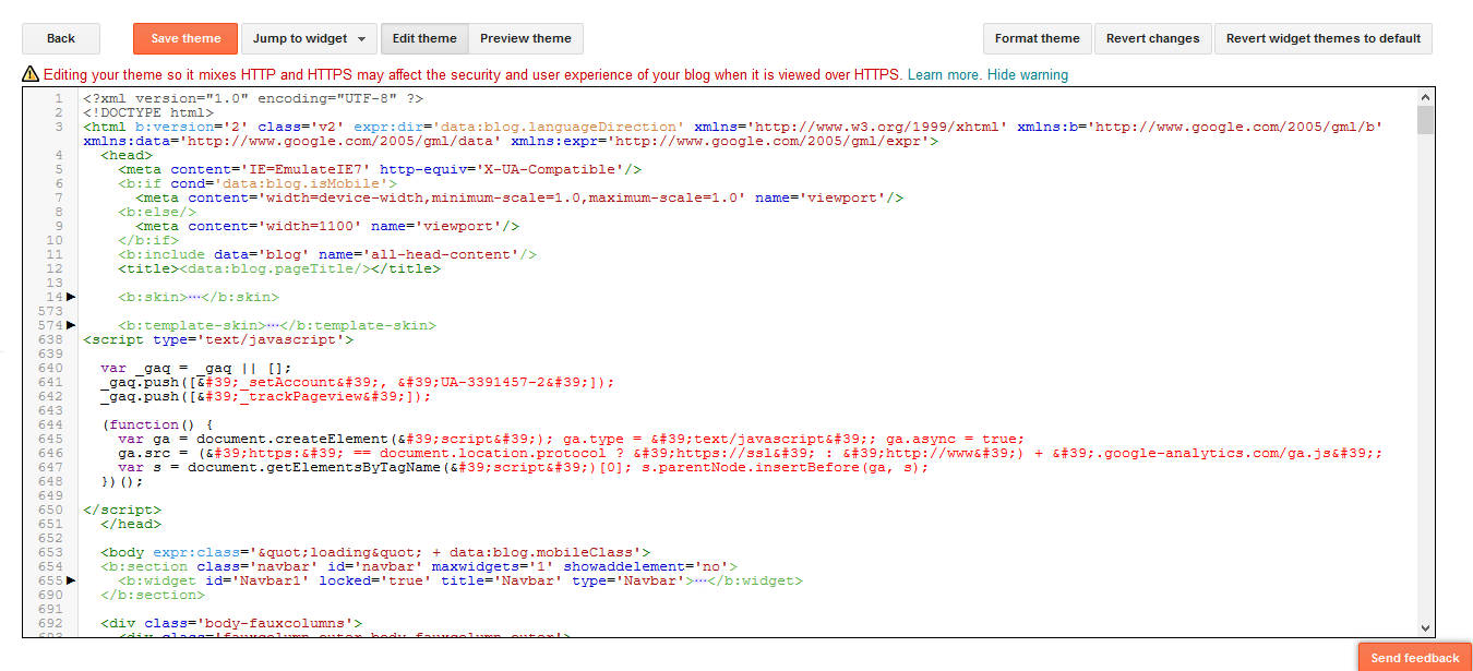 How To Redirect a Blogspot Blog Theme Editing