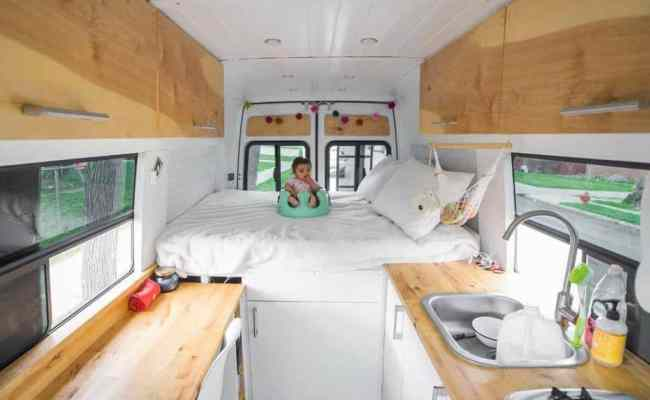 Baby Doesn T Stop Couple From Living In A Sprinter Van