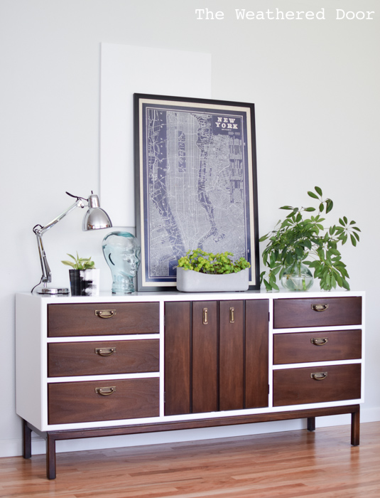 Fresh and Modern Mid Century Dresser with Geometric Drawers | from theweathereddoor.com-2