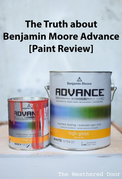 The Truth About Benjamin Moore Advance  The Weathered Door