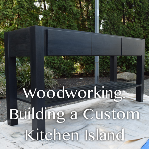 Woodworking Building a Alder Custom Kitchen Island | from The Weathered Door