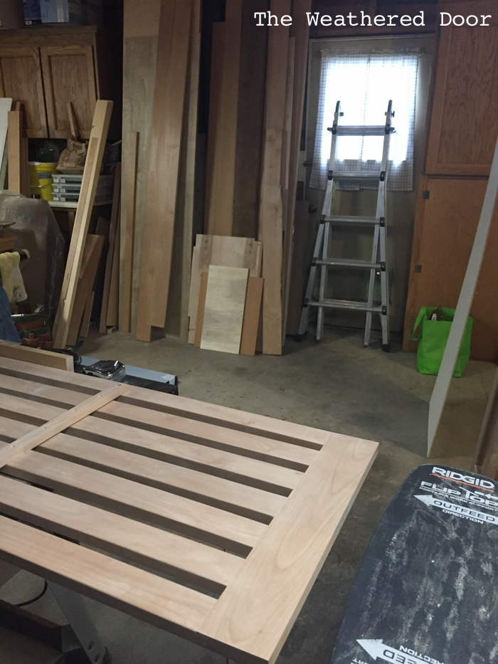 Woodworking Alder Kitchen Island progress WD-9