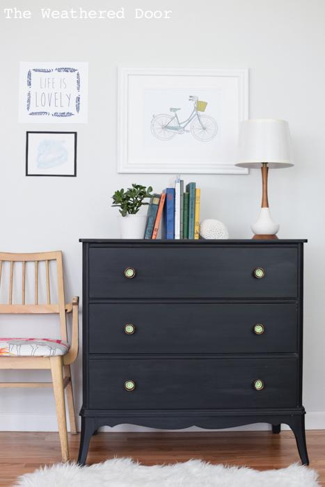 black and green hepplewhite dresser from theweathereddoor.com