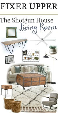 Shotgun House Fixer Upper Get the Look - The Weathered Fox