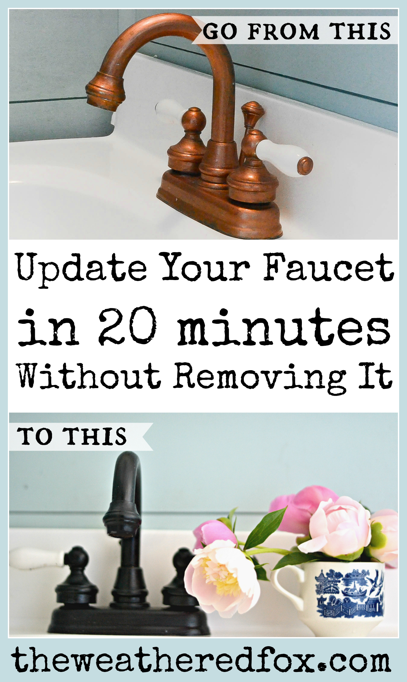painted faucet in 5 easy steps the