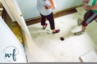 Vinyl Floors in Laundry Room Makeover Day 3 - The ...