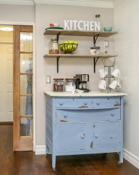 How to Build a Farmhouse Coffee Bar - The Weathered Fox