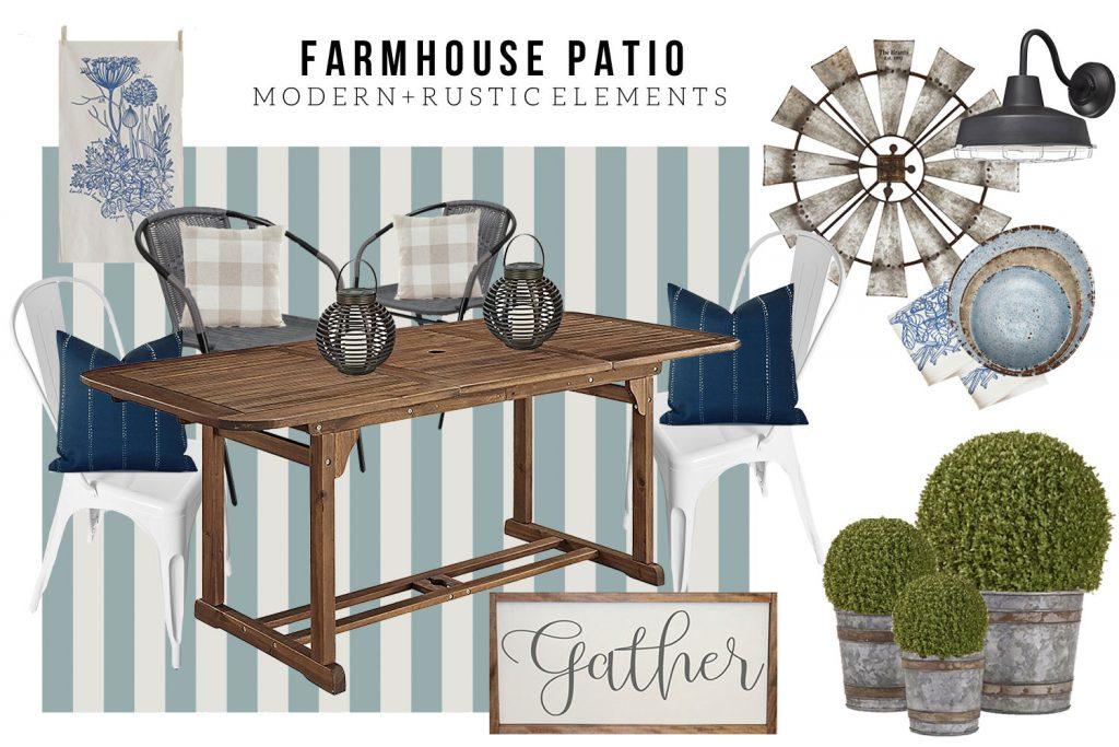 farmhouse patio design board the