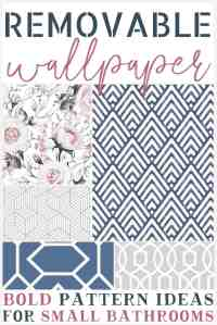 Bold Removable Wallpaper Patterns for Small Bathrooms