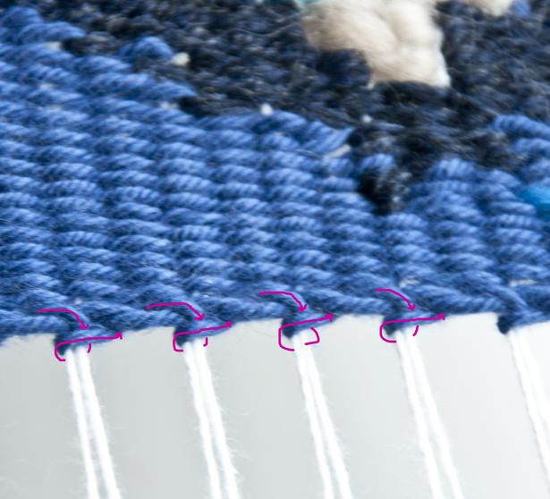Hem Stitch Finish   The Weaving Loom