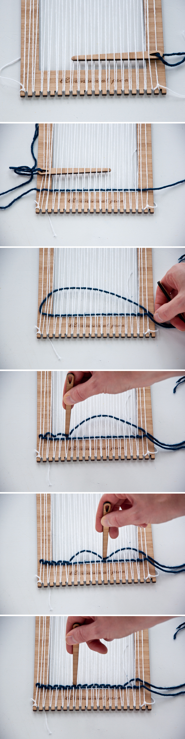 how to use a weaving loom video