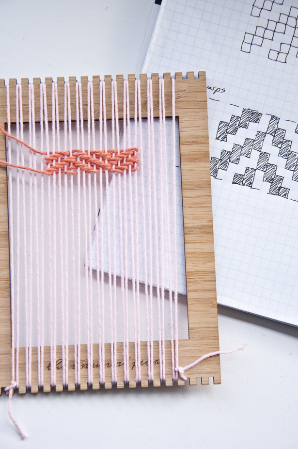 how to make weaving pattern