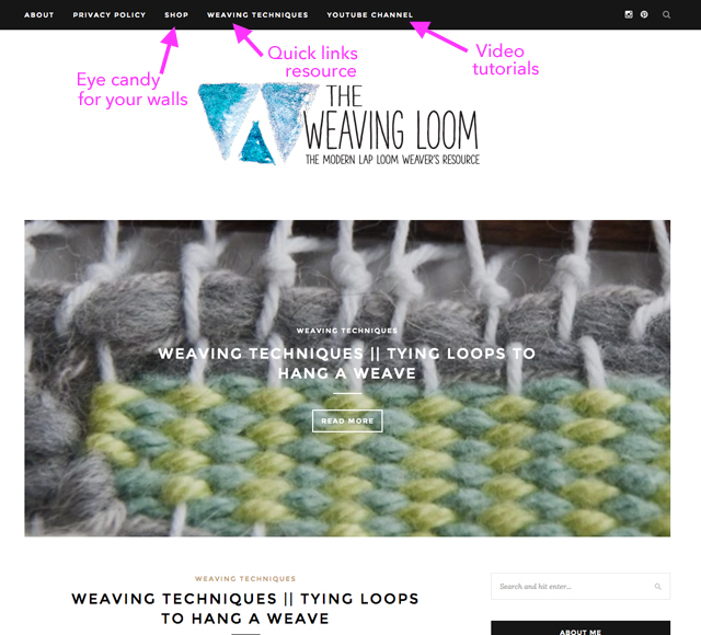 The Weaving Loom blog for weavers