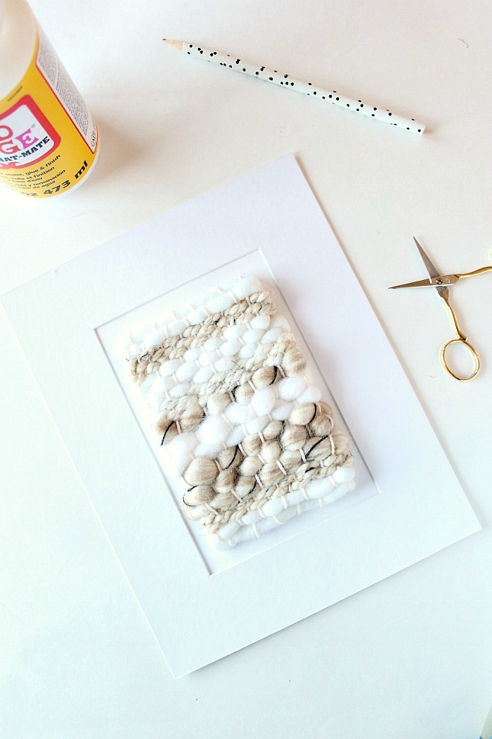 A Pretty Fix framed weave DIY