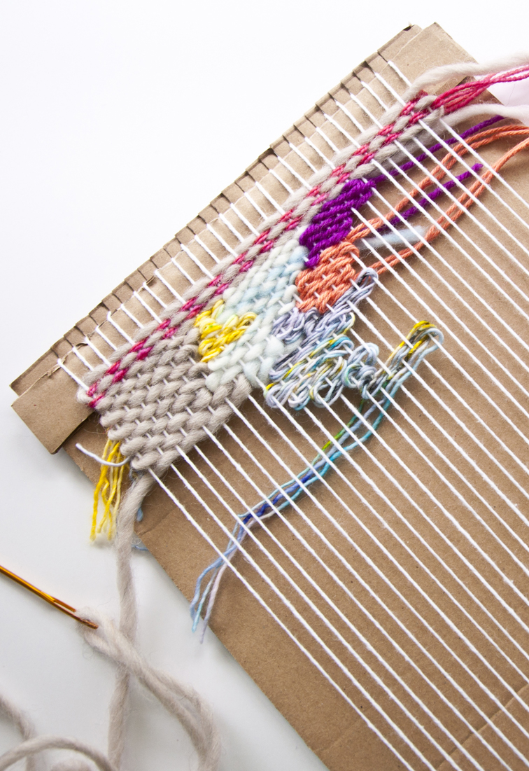 How To Make A Cardboard Loom The Weaving Loom
