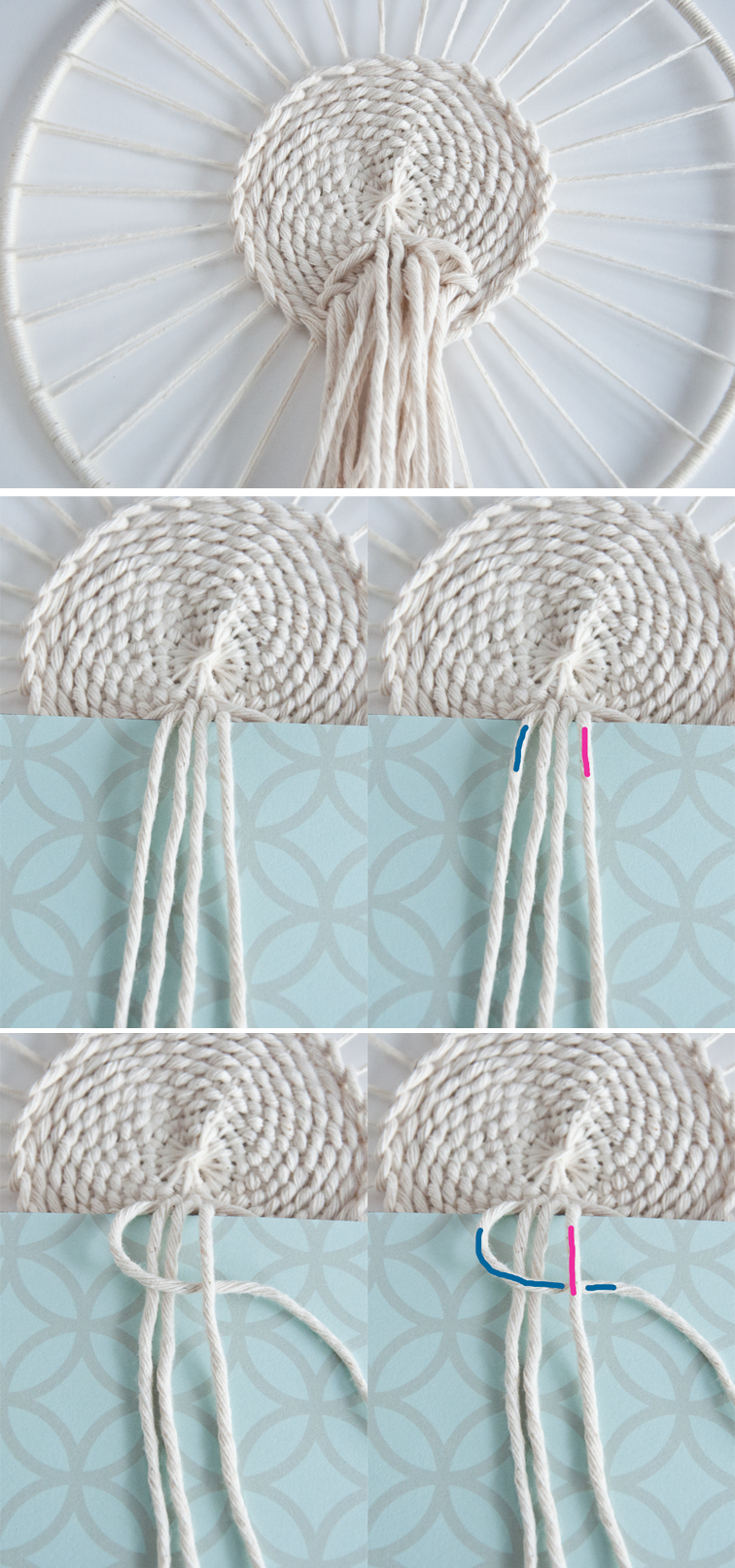 Weaving Technique Macrame Flair The Square Knot Loom Diagram How To Tie A
