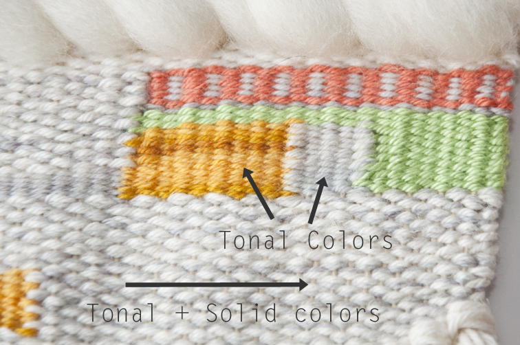 How to weave simple color shading