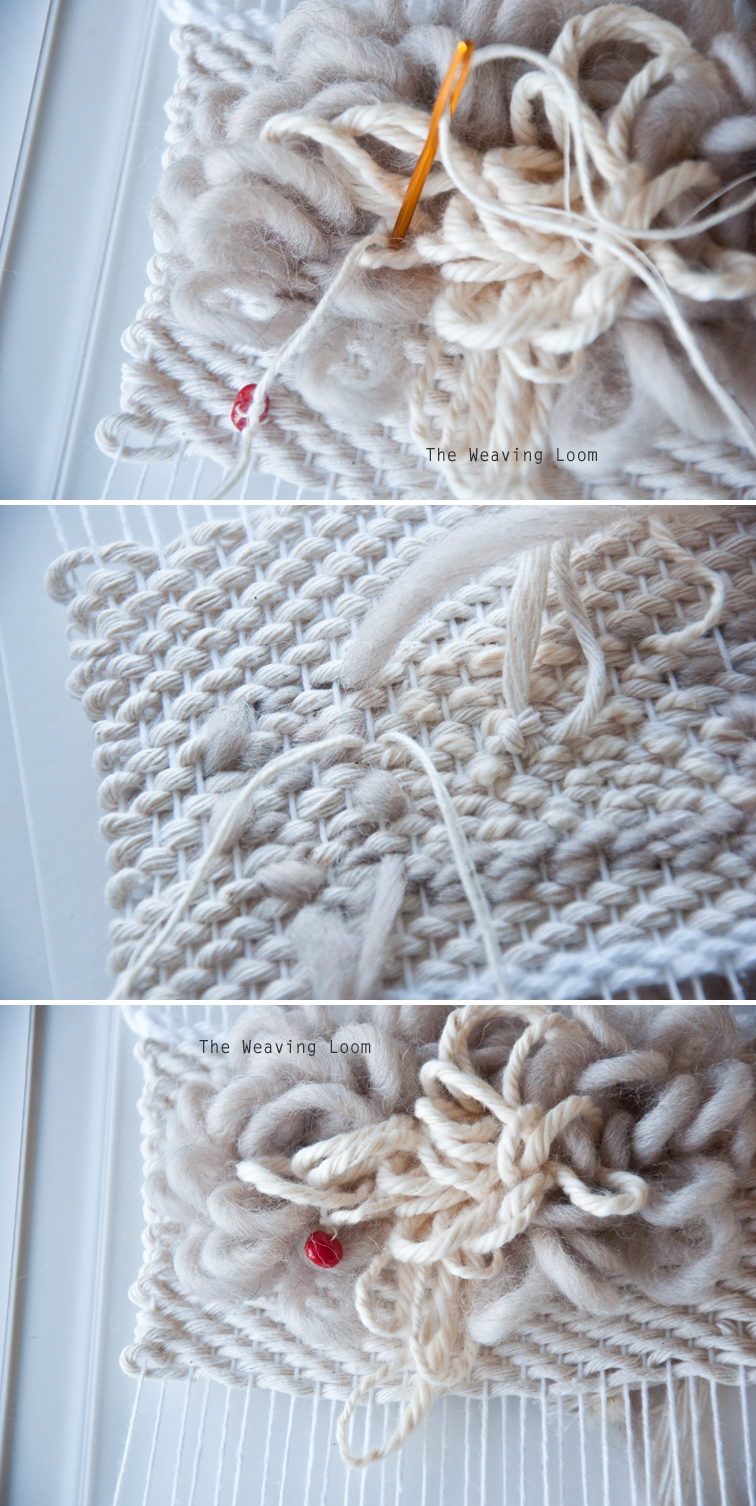 How to Add Beads to a Pile Weave