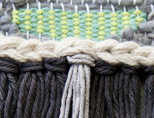 How to Weave Vertical Stripes #tutorial