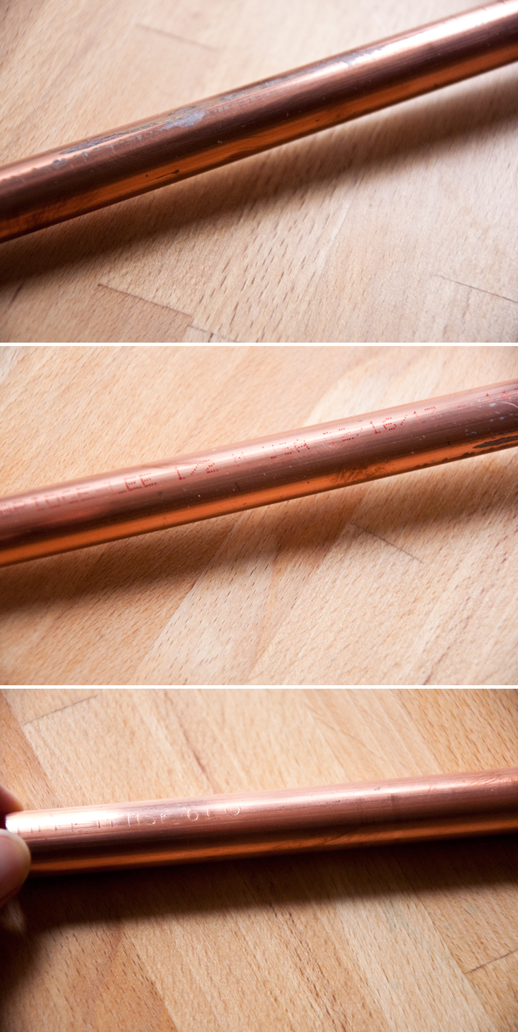 How to prep a copper pipe to hang your weave from