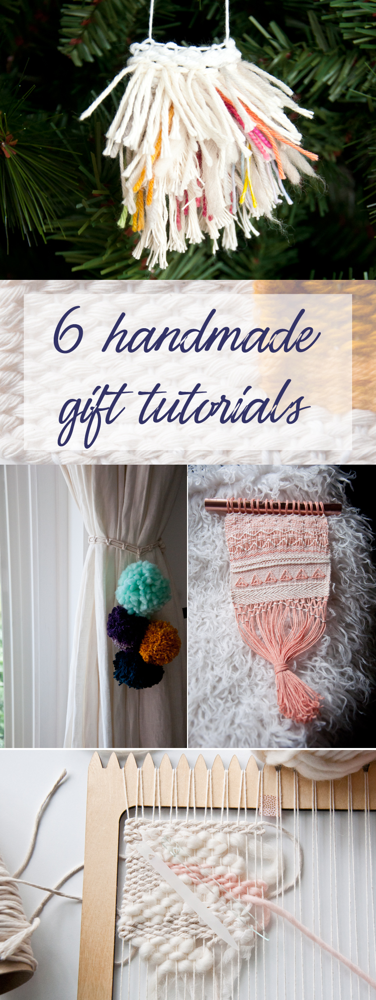 6 handmade gift tutorials. I can't wait to make one of these!