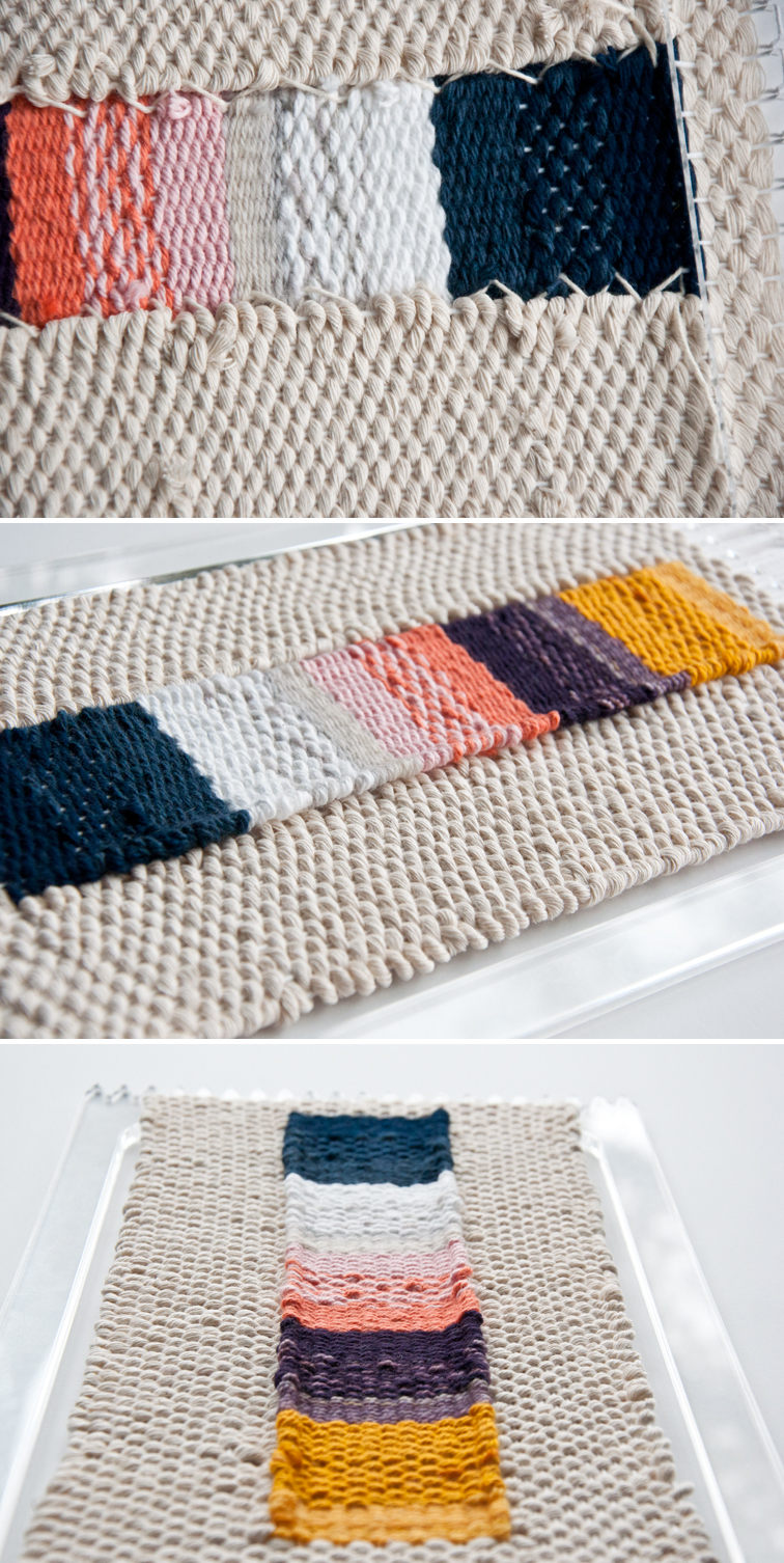 Free Beginner's Ombre Stripe Weave Pattern