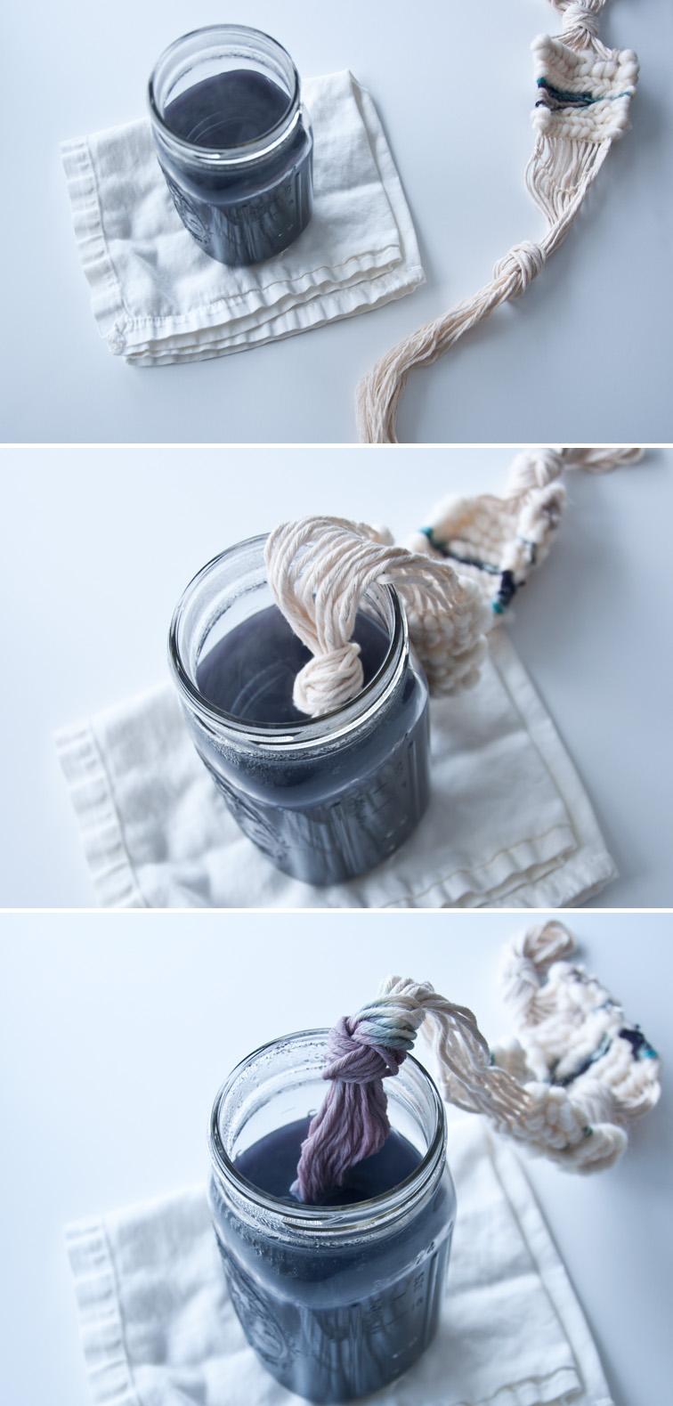 Dip dyeing cotton string!