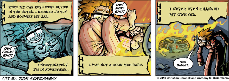 Post Apocalyptic Nick #2: Hotwiring is Hard