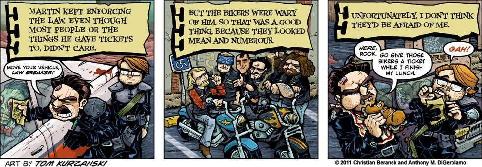 Post Apocalyptic Nick #31: Ticket the Bikers