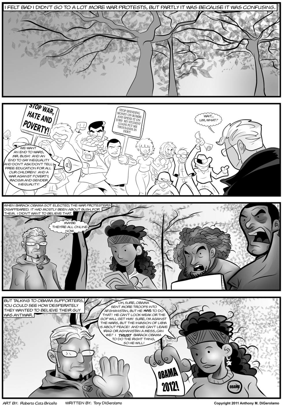 The Antiwar Comic:  Protesting the Protests