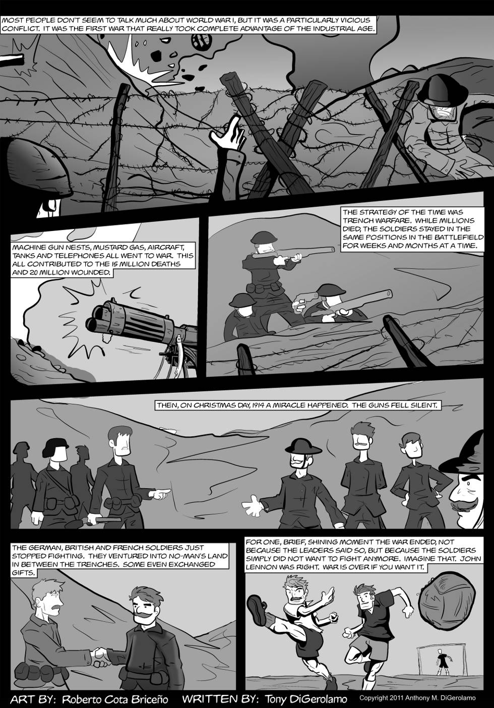 The Antiwar Comic: Battlefield Christmas
